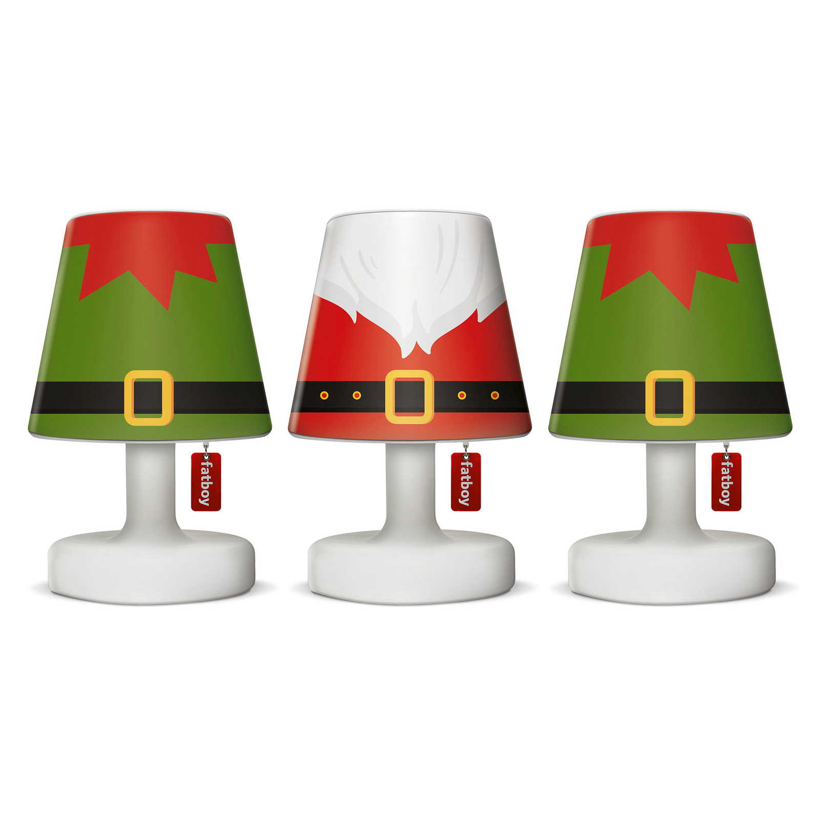Fatboy Mini Cappie Schirm 3er-Set, santa + elfs
