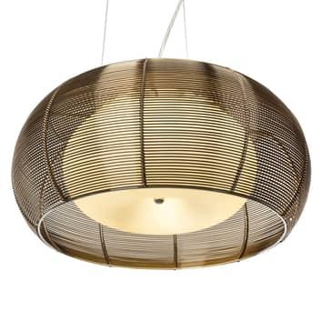 Grande lampada a sospensione Relax bronzo cromato