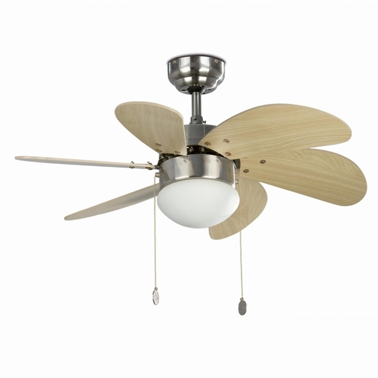 Stropný ventilátor Palao so svetlom, matná niklová_3506039_1