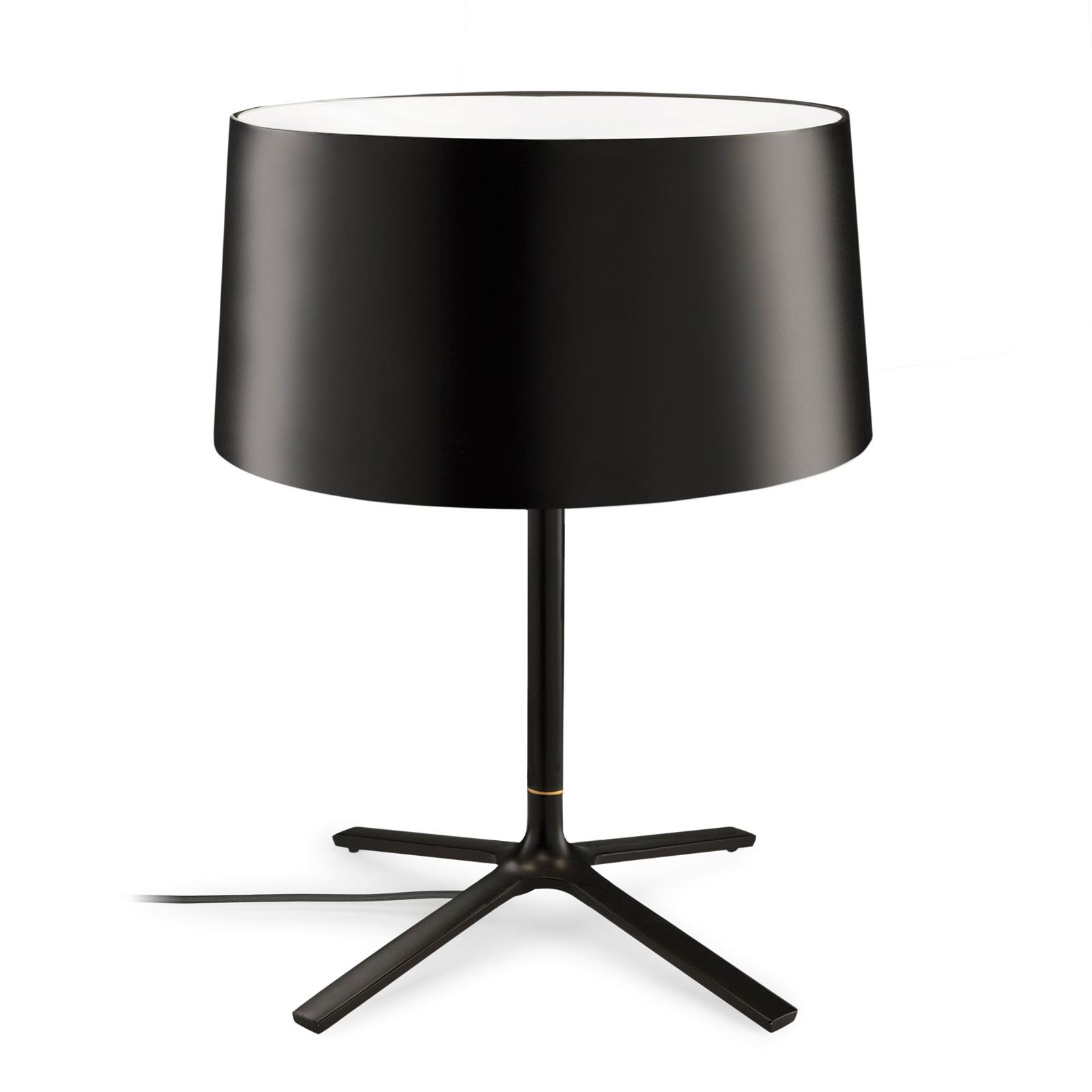 Grok Hall bordlampe med stofskærm, sort