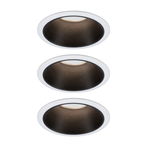 Paulmann Cole spot LEDlight, nero-bianco, set 3x
