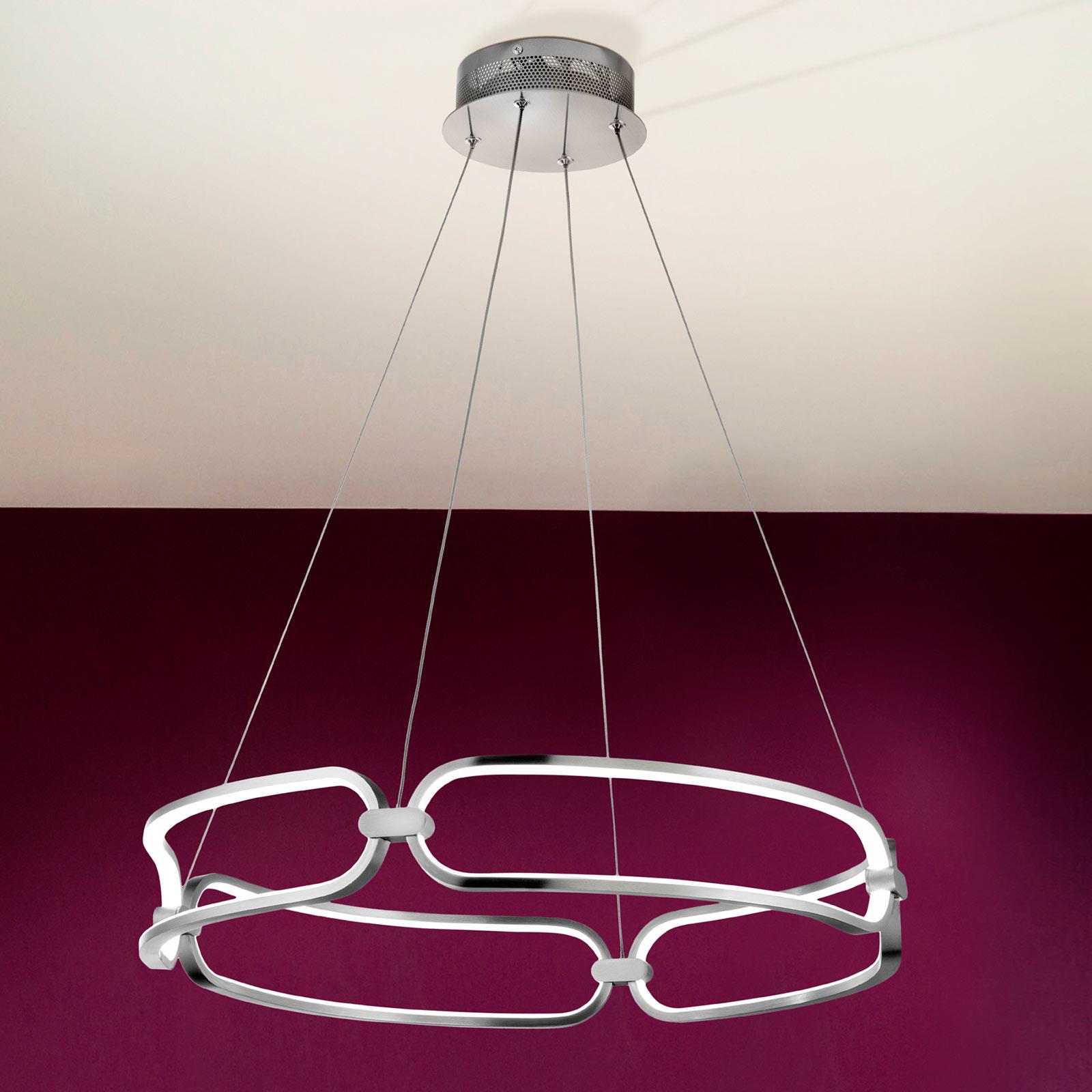 Acquista Lampada a sospensione LED Colette, cromo
