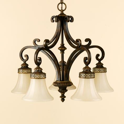 Viiden lampun DRAWING ROOM -riippuvalaisin