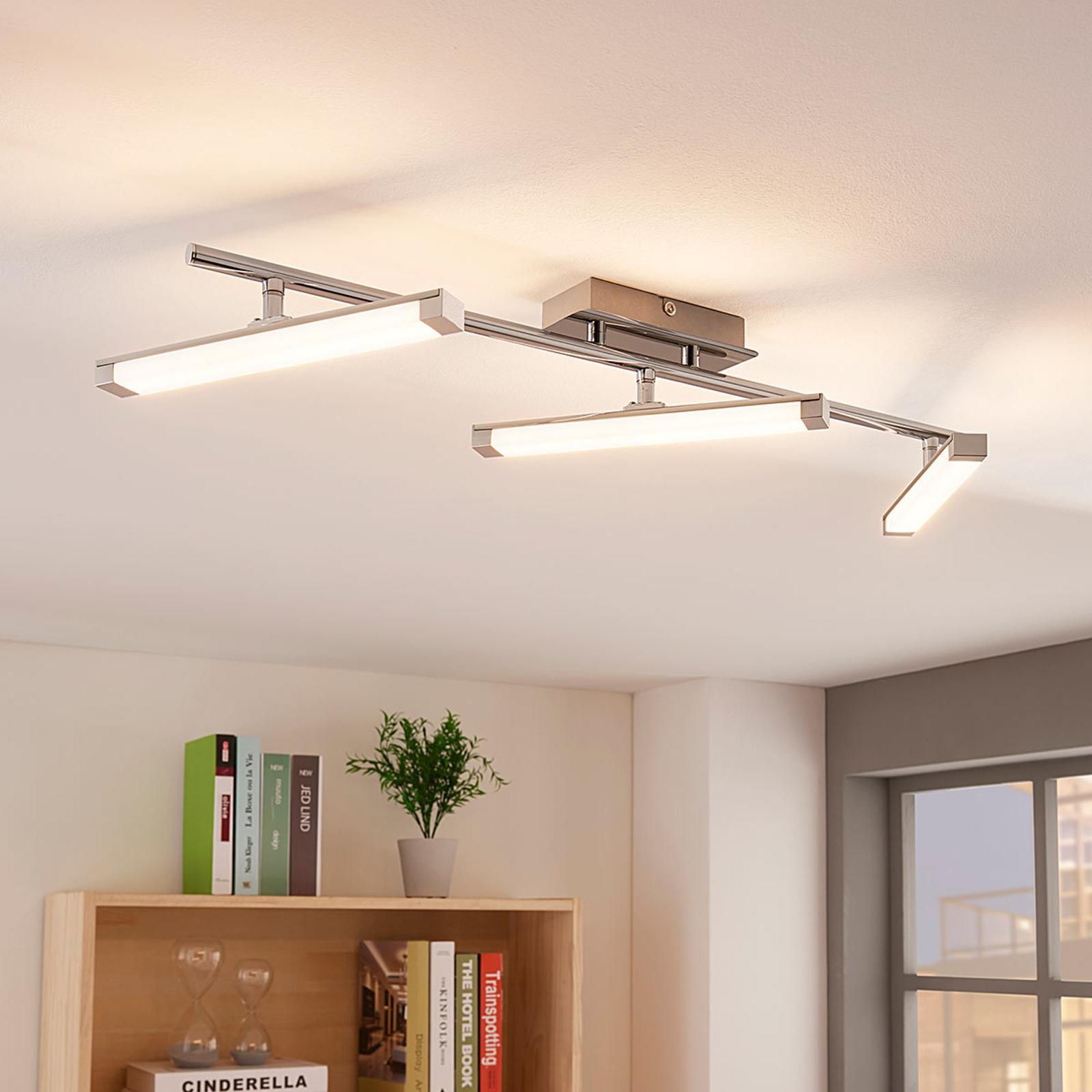 Lampa sufitowa LED Pilou ściemniana przełącznikiem