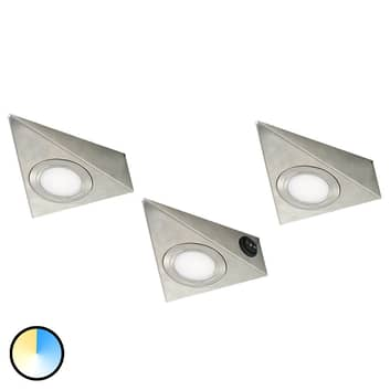 Trojúhelníkové LED svítidlo do podhledů CS, 3x