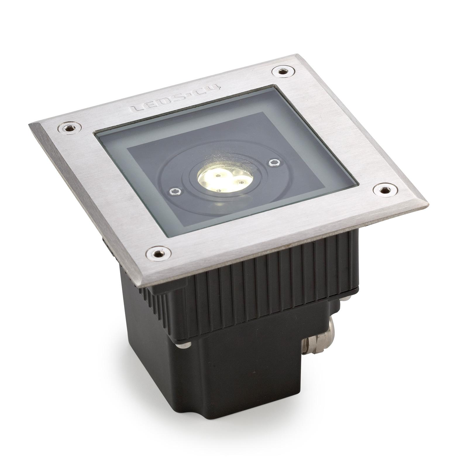 LEDS-C4 Gea Power spot LED da interrare, acciaio