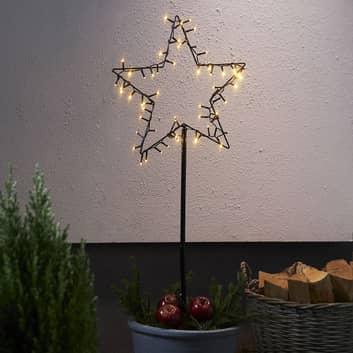 Estrella decorativa LED Spiky exterior, pilas