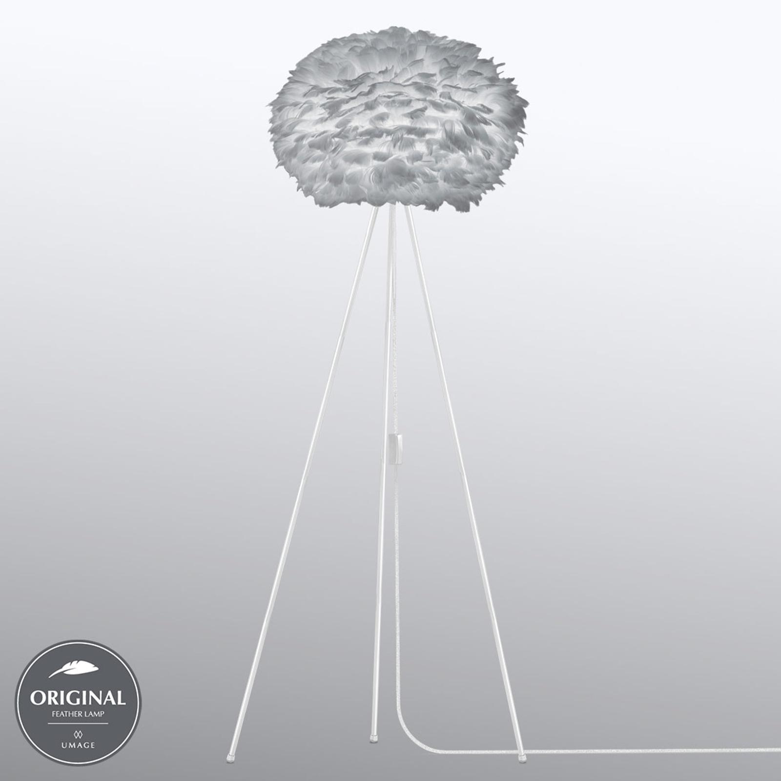 UMAGE Eos medium gulvlampe Tripod lysegrå
