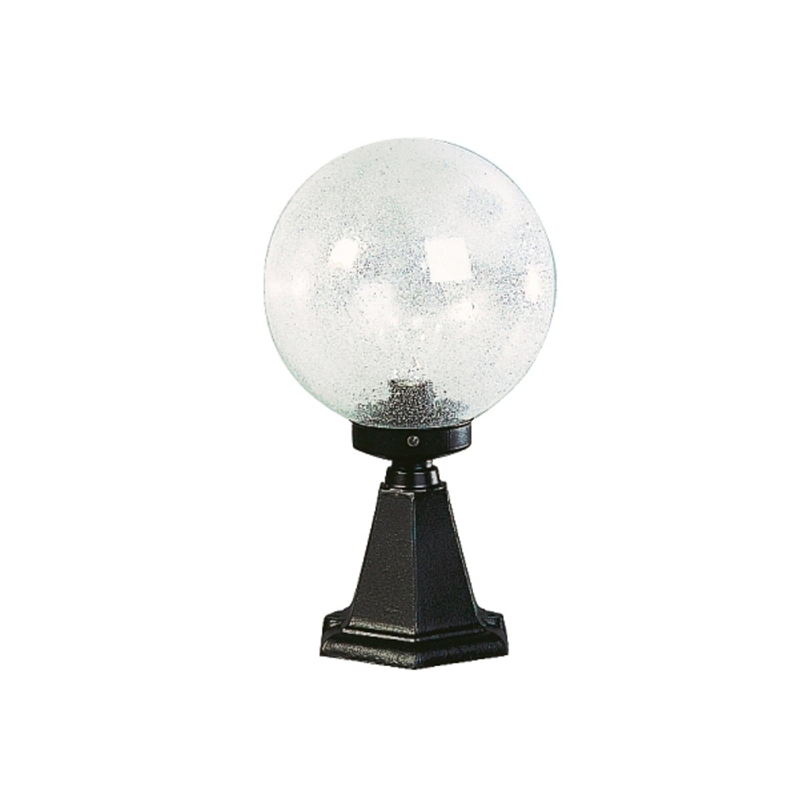 Luminaire pour socle I en verre à bulles noir