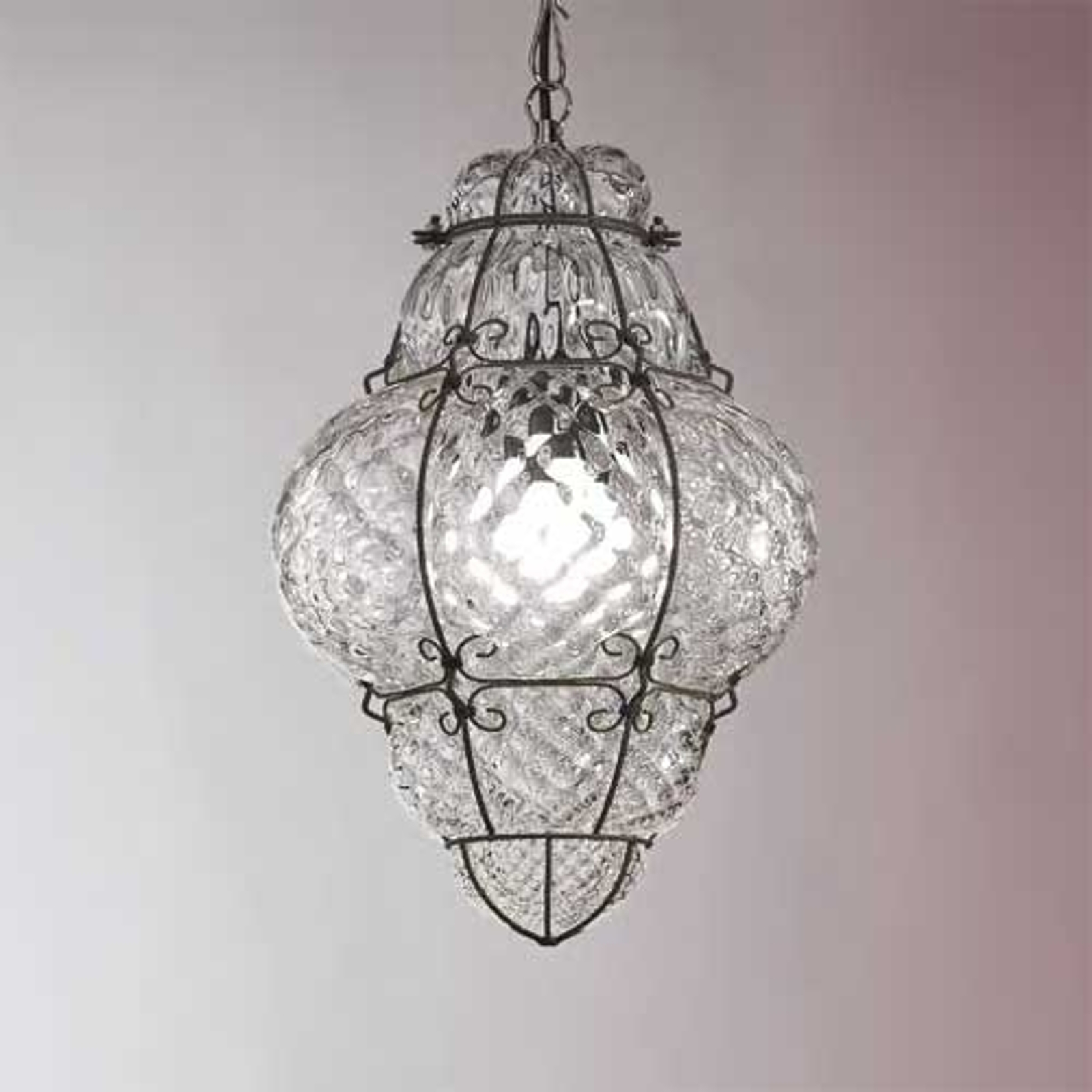 Lampa wisząca CLASSIC ze szkła dmuchanego 43 cm