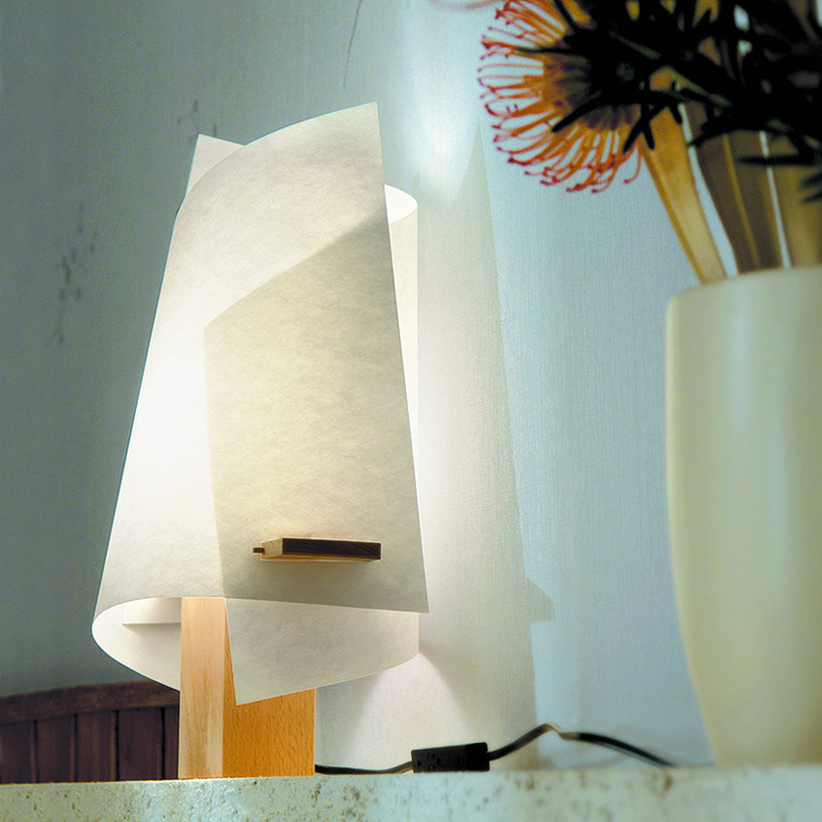 Designer tafellamp PLAN B, beuken