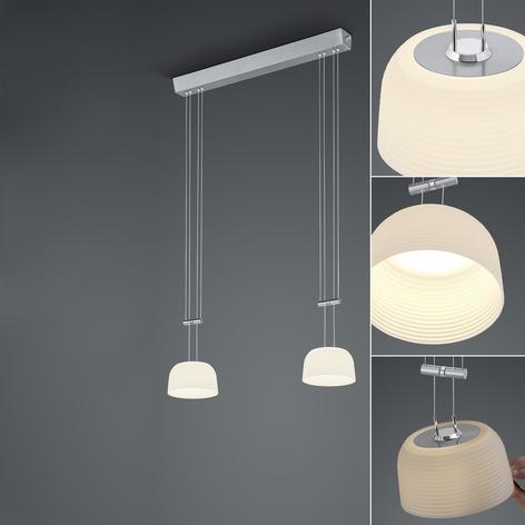 BANKAMP Nelia LED-Pendel 2fl ZigBee dimmbar