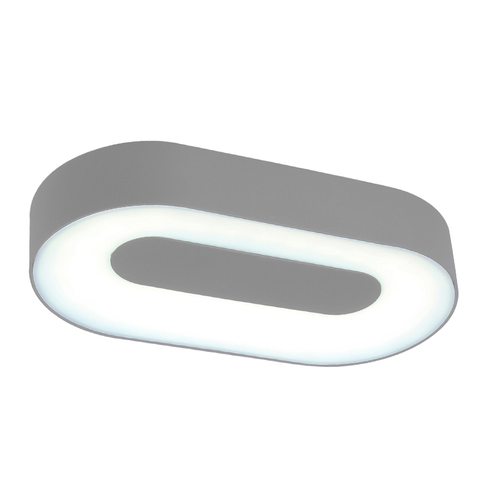 Oval LED-vegglampe Ublo for utebruk