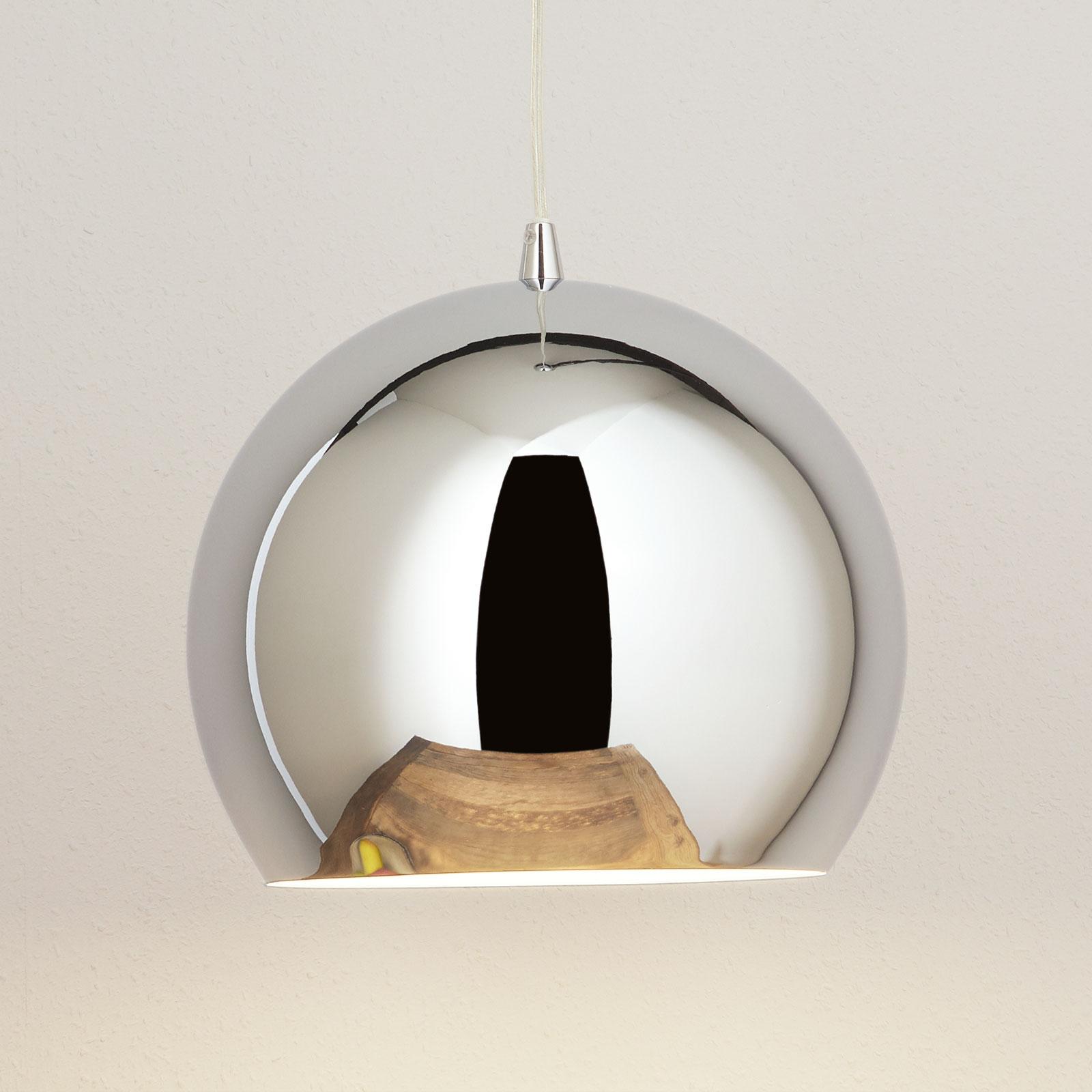 Hængelampe Bulle, i krom
