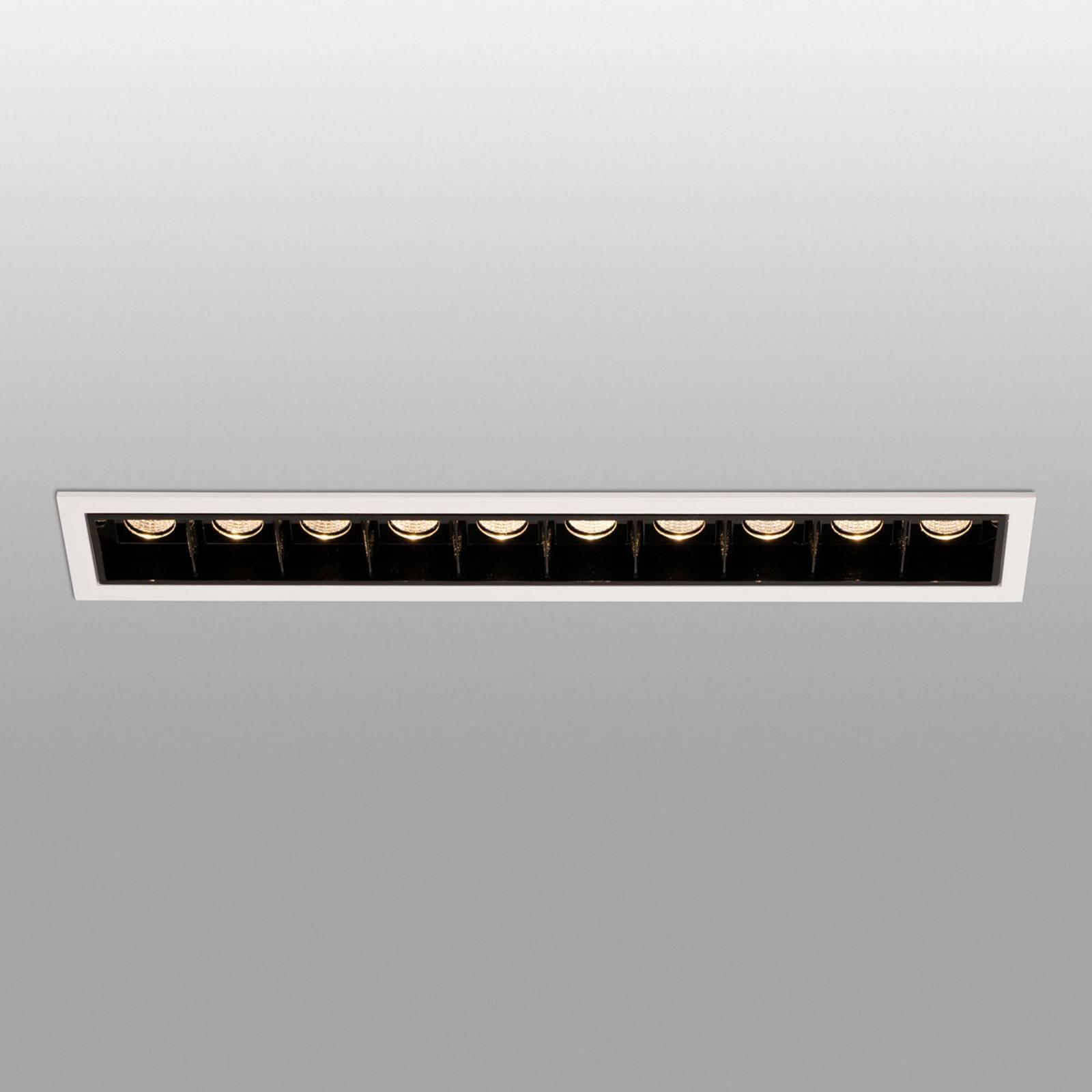 Spot LED incasso Troop con telaio, 10 luci