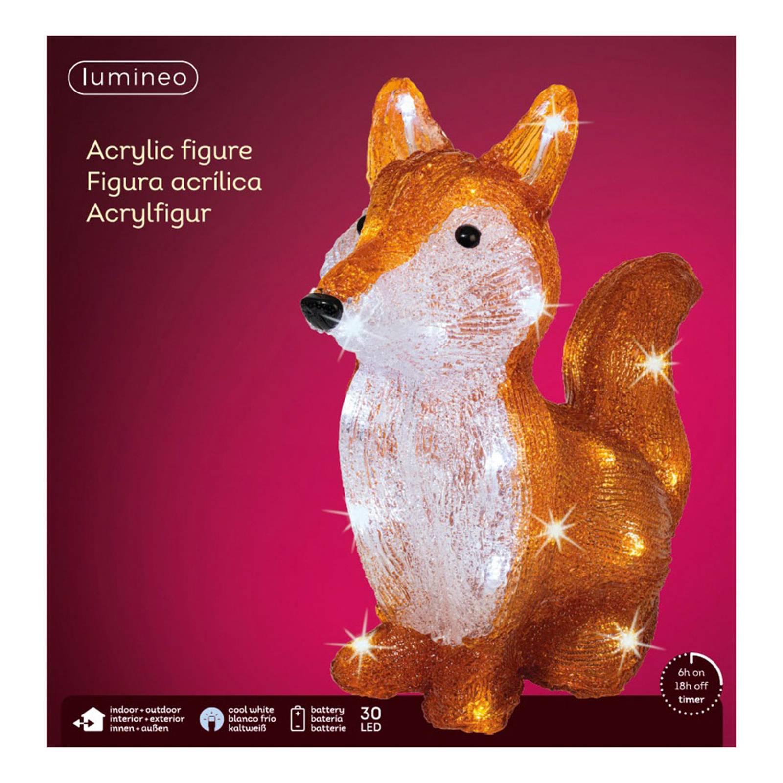 "*Merry X-Mas*: LED-Leuchtfigur ""Fuchs"" aus Acryl (Kopie) Lampenwelt"