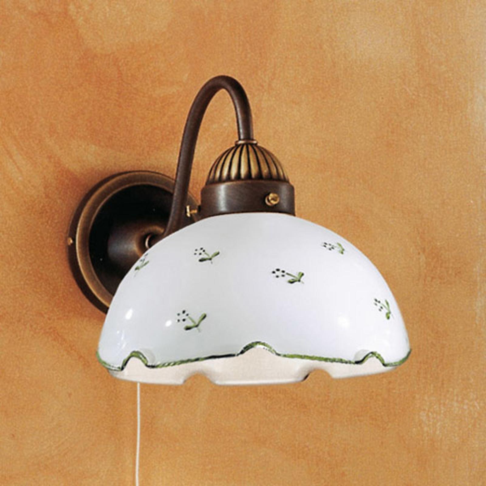 Wandlamp Nonna Millefleurs, groen