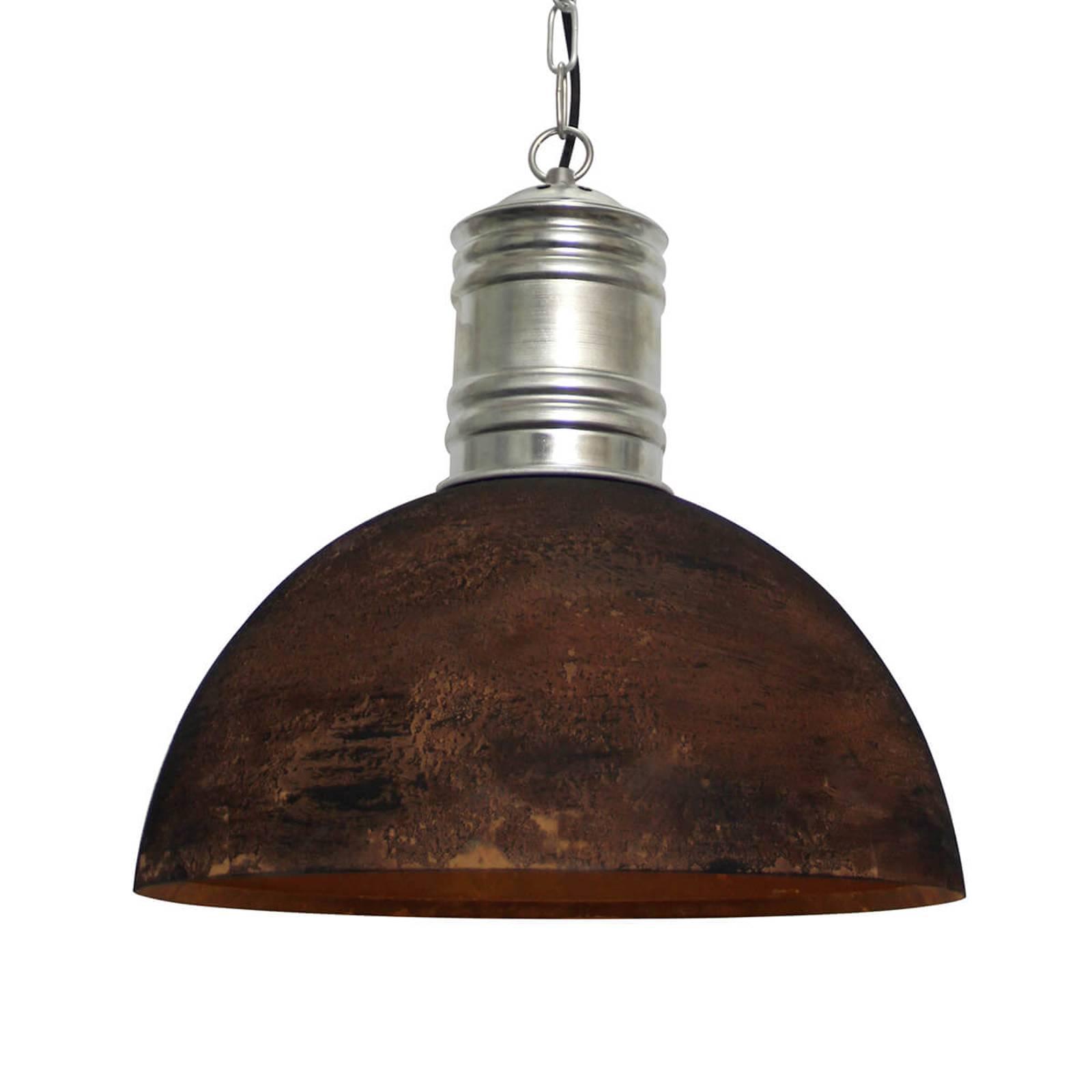 Rdzawo-czarna lampa wisząca Frieda