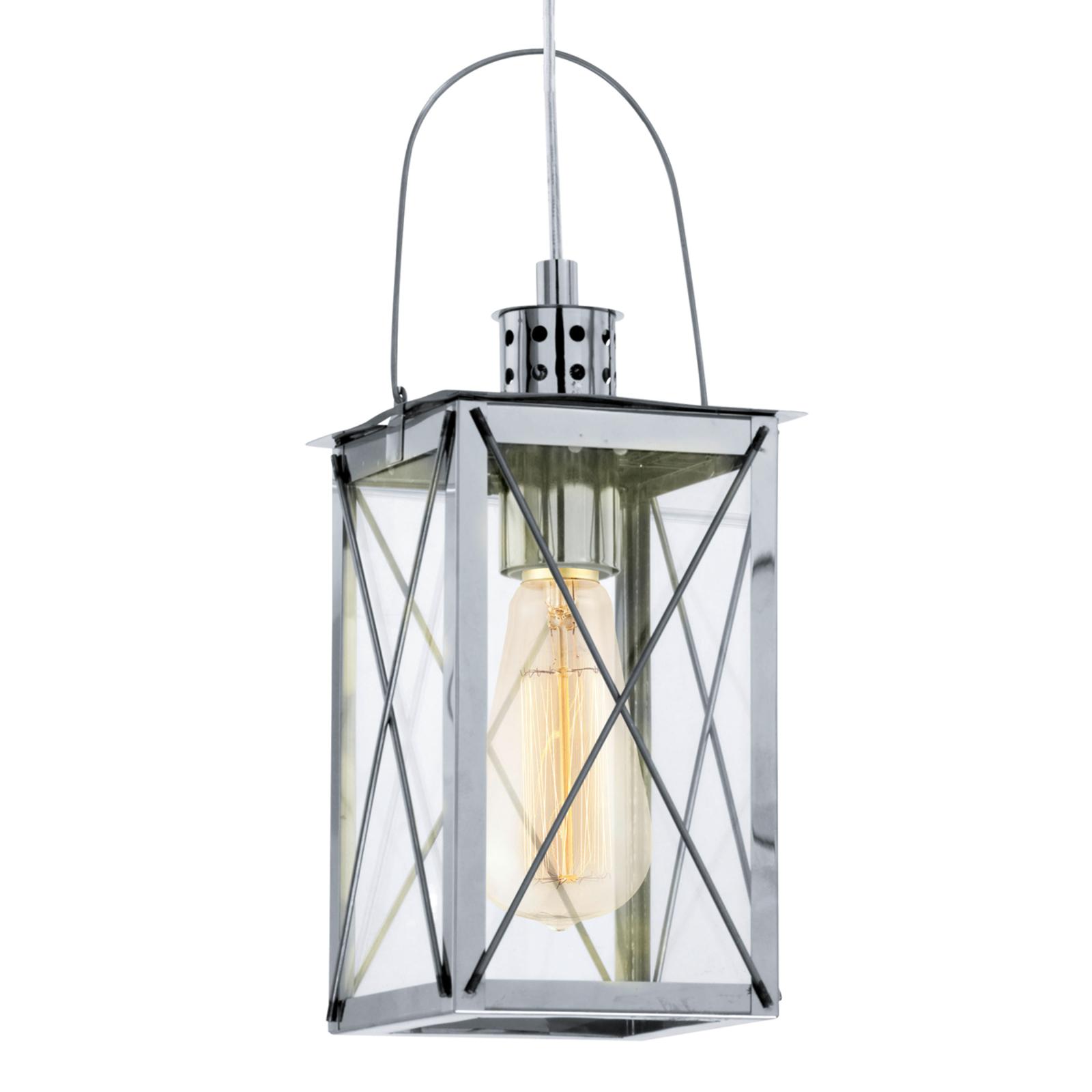 Verchroomde lantaarn hanglamp Maria
