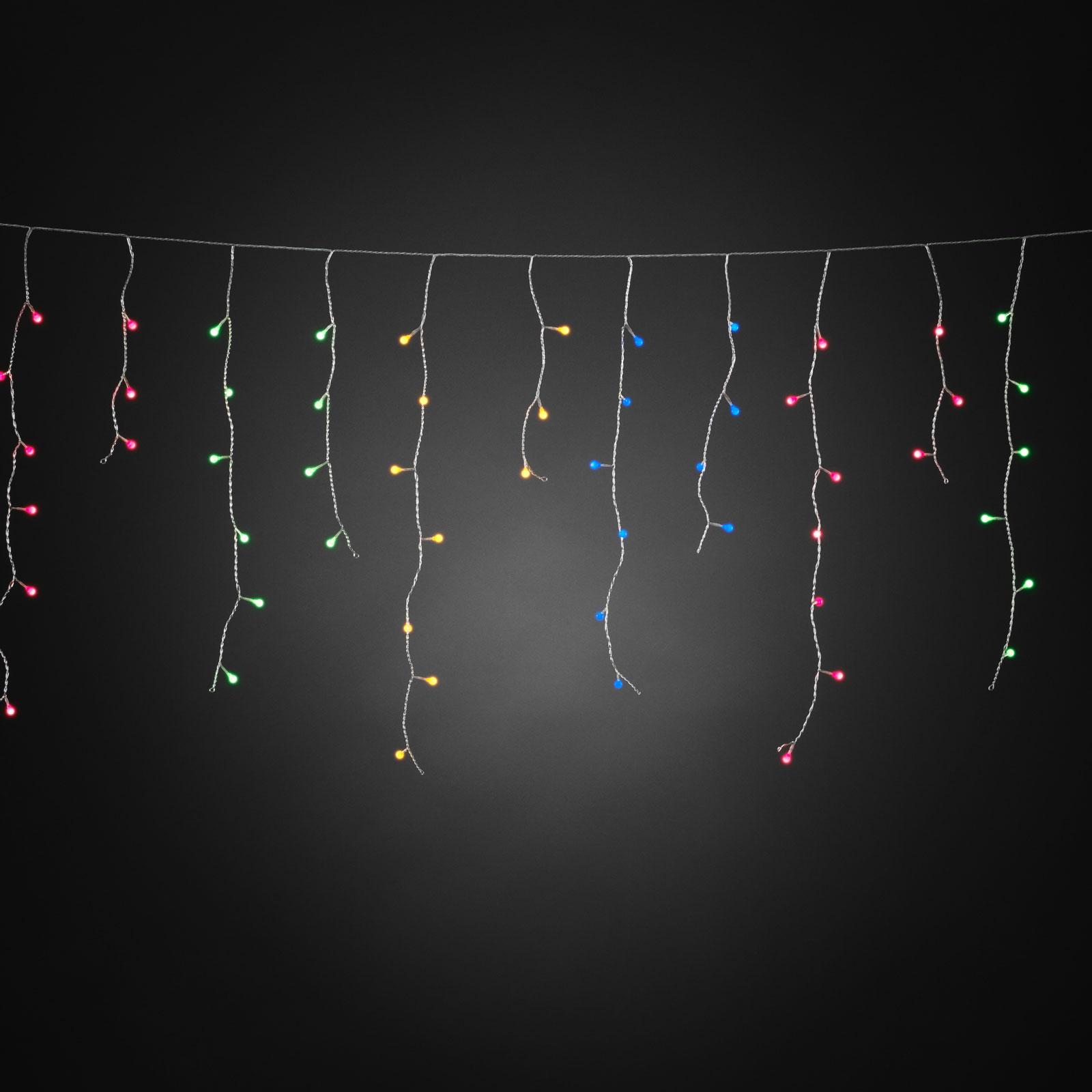 Isregn LED-lysforhæng, farvede glober
