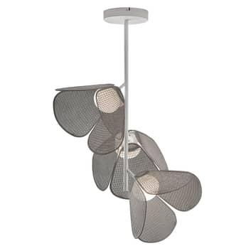 Bover Mod PF/73/3L LED-loftlampe, hæklet, grå