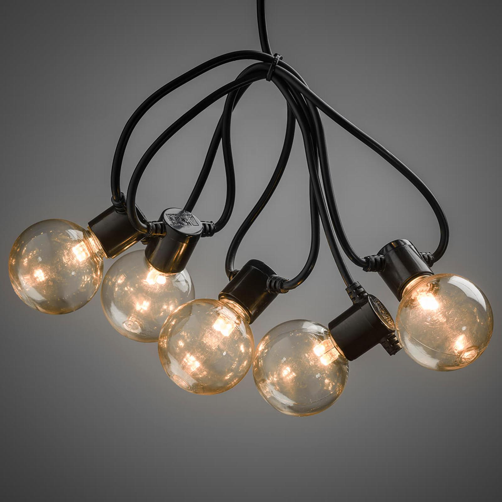 LED-lyslenke glødetråd-optikk rav 10-lk