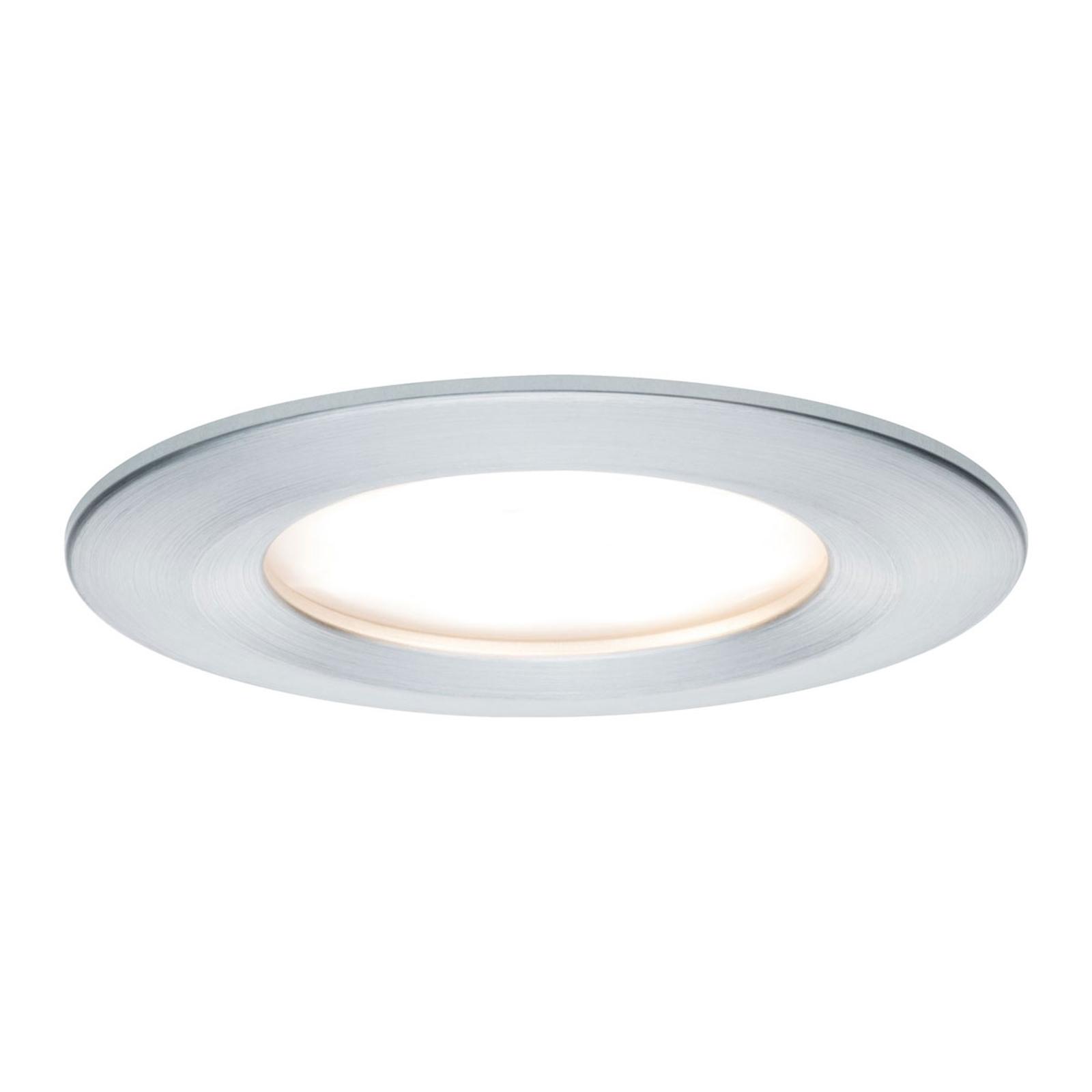 Paulmann 3er-Set LED-Spot Slim Coin, Alu