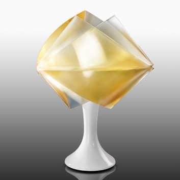 Złota lampa stołowa GEMMY PRISMA