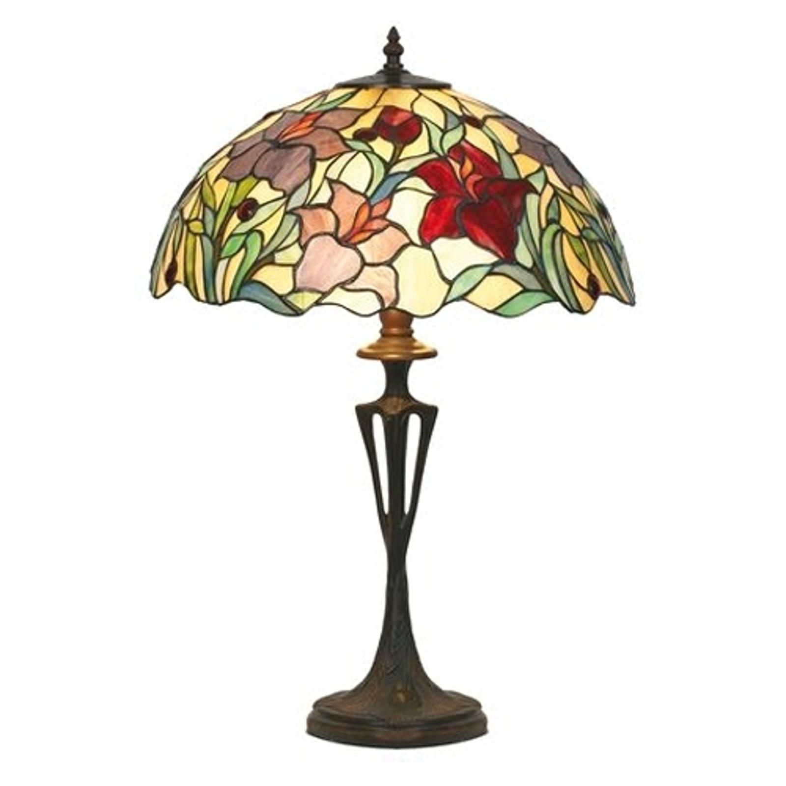 Bordlampen Athina i Tiffany-stil