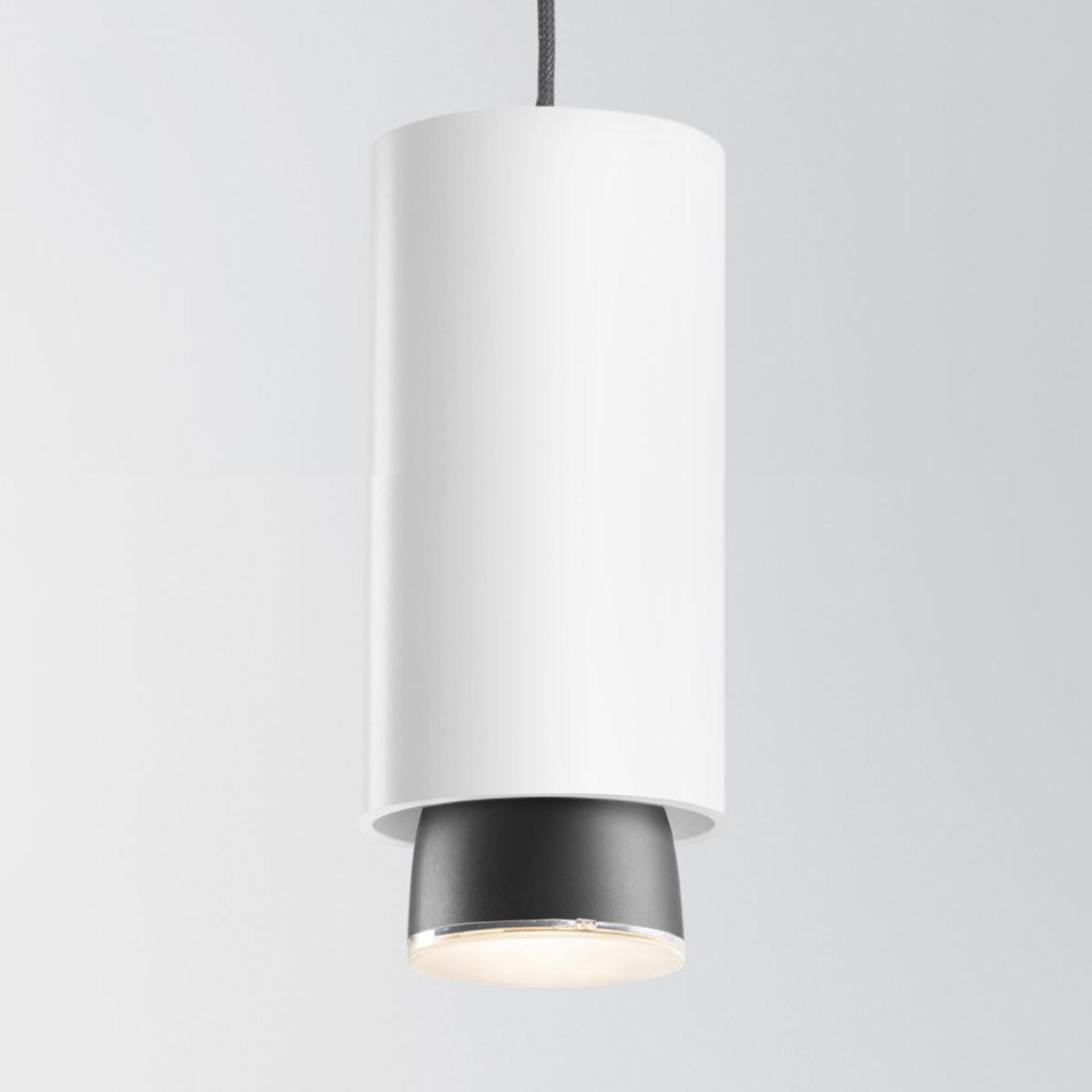 Fabbian Claque LED-Hängeleuchte 20 cm weiß