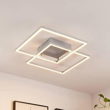 Lucande Muir lampa sufitowa LED, kwadraty, CCT