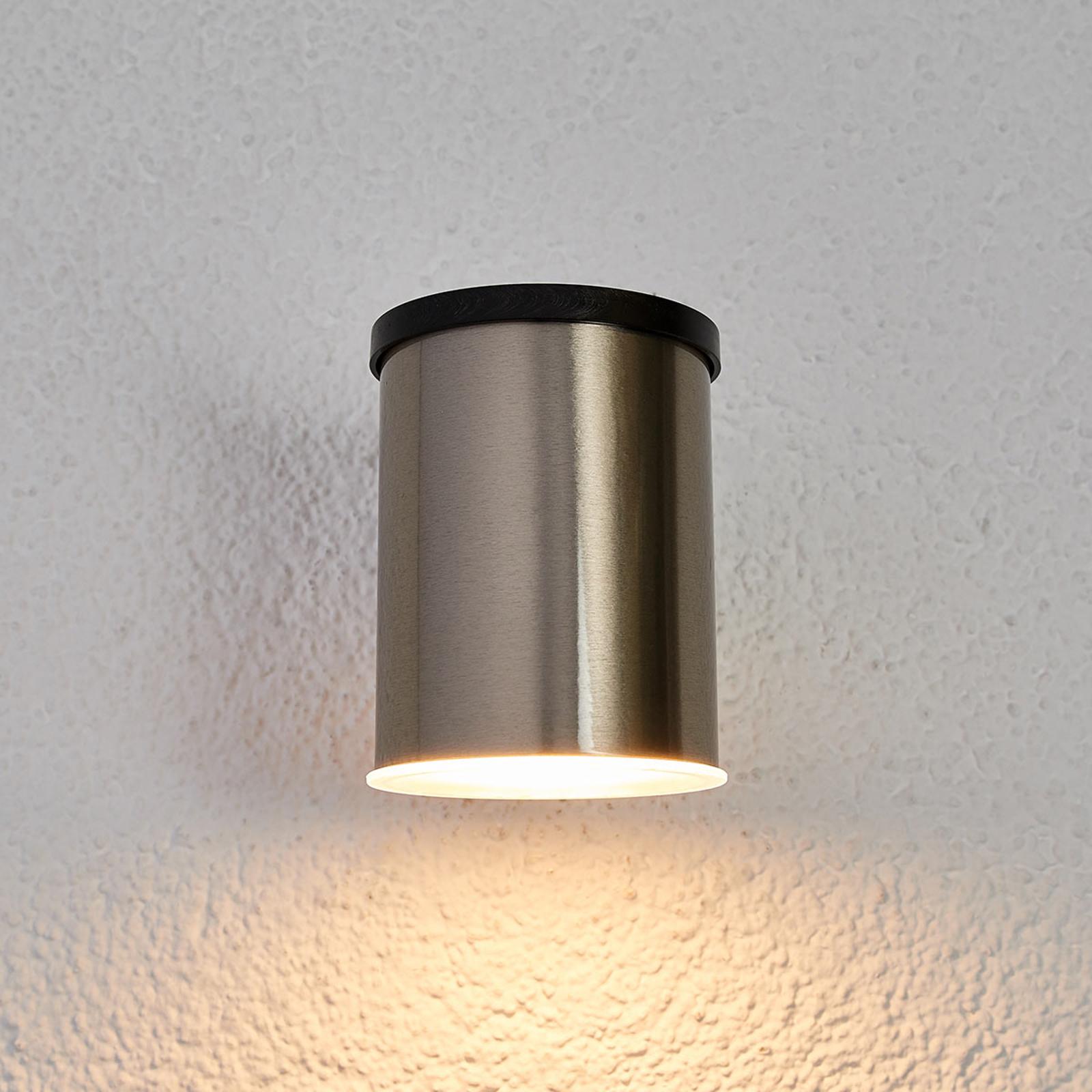 LED wandlamp zonne-energie Tyson, rond, helder