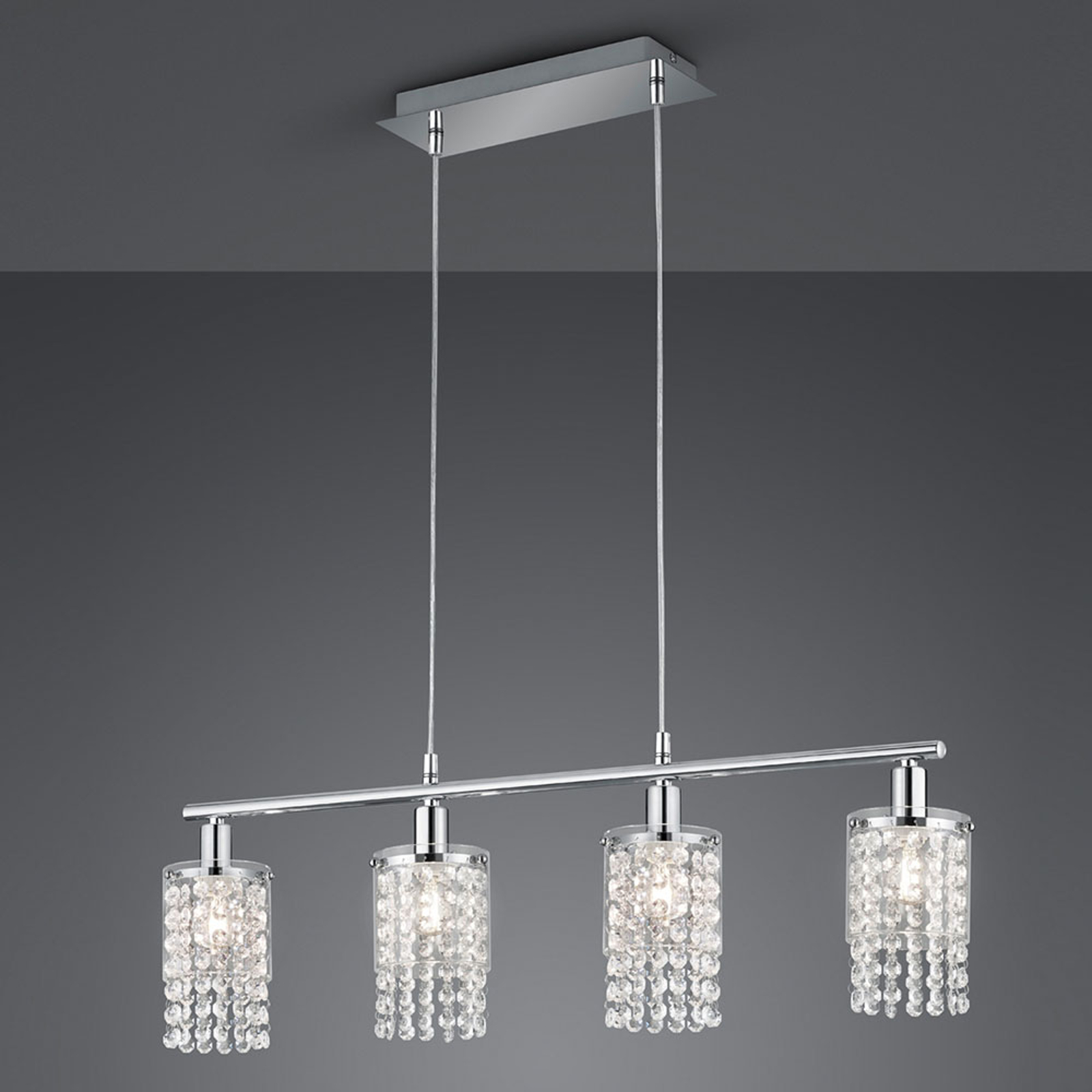 Hanglamp Posh met behang, 4-lamps
