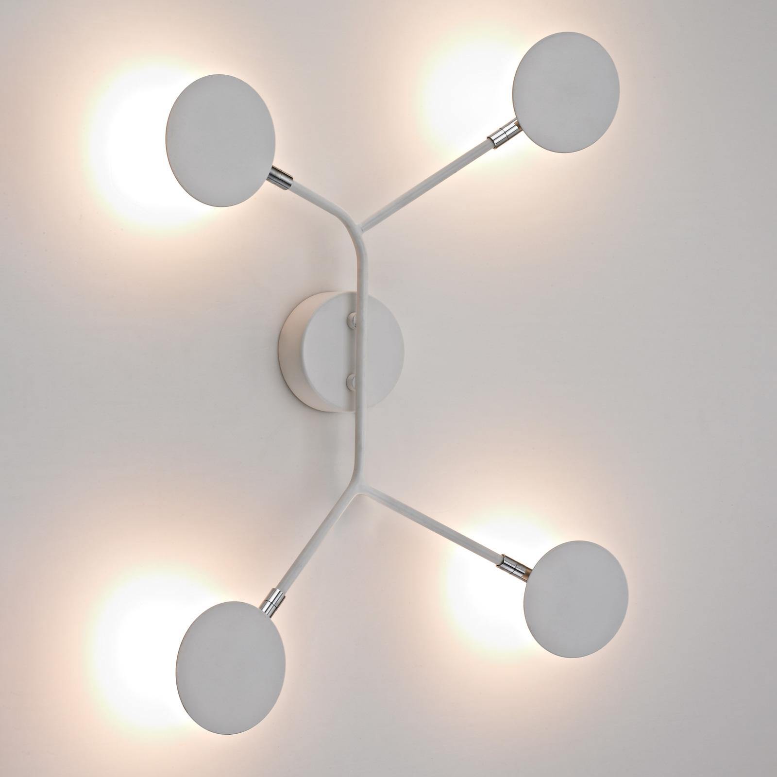 LED-vägglampa Belize, 4 lampor, vit