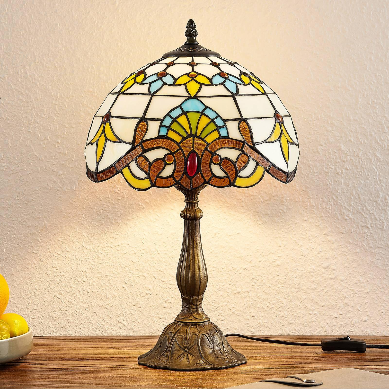 Lindby Audrey tafellamp in Tiffany-stijl