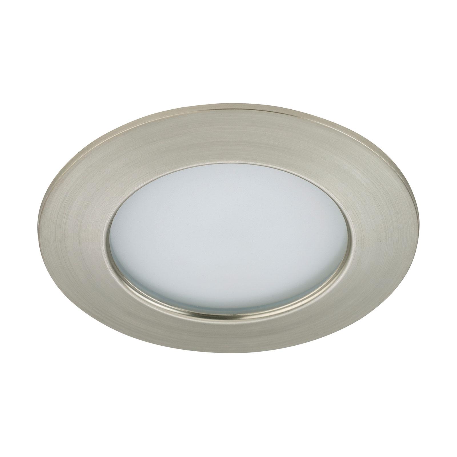 Helderheid LED inbouwlamp Elli, nikkel mat