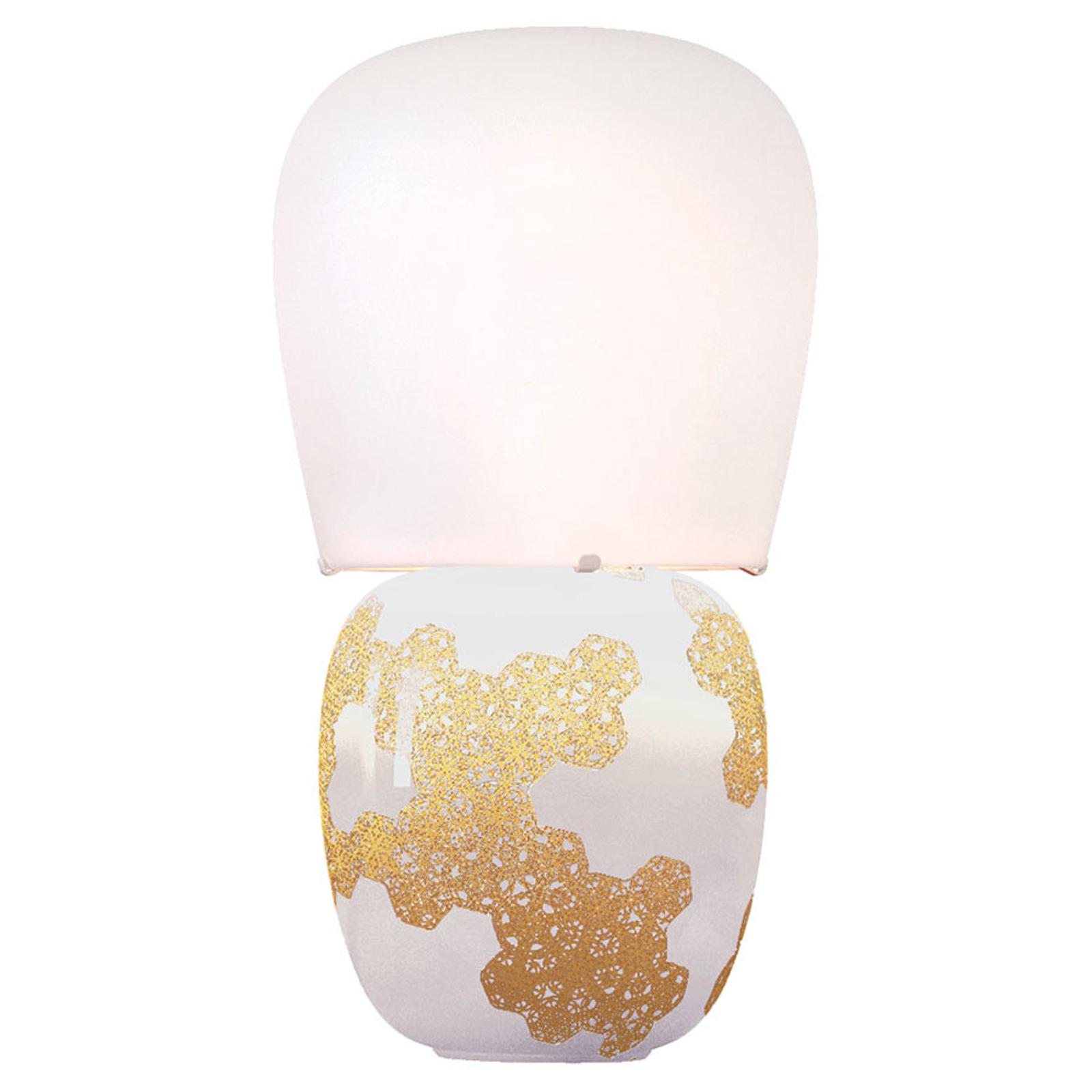 Kundalini Hive - keramische tafellamp, wit