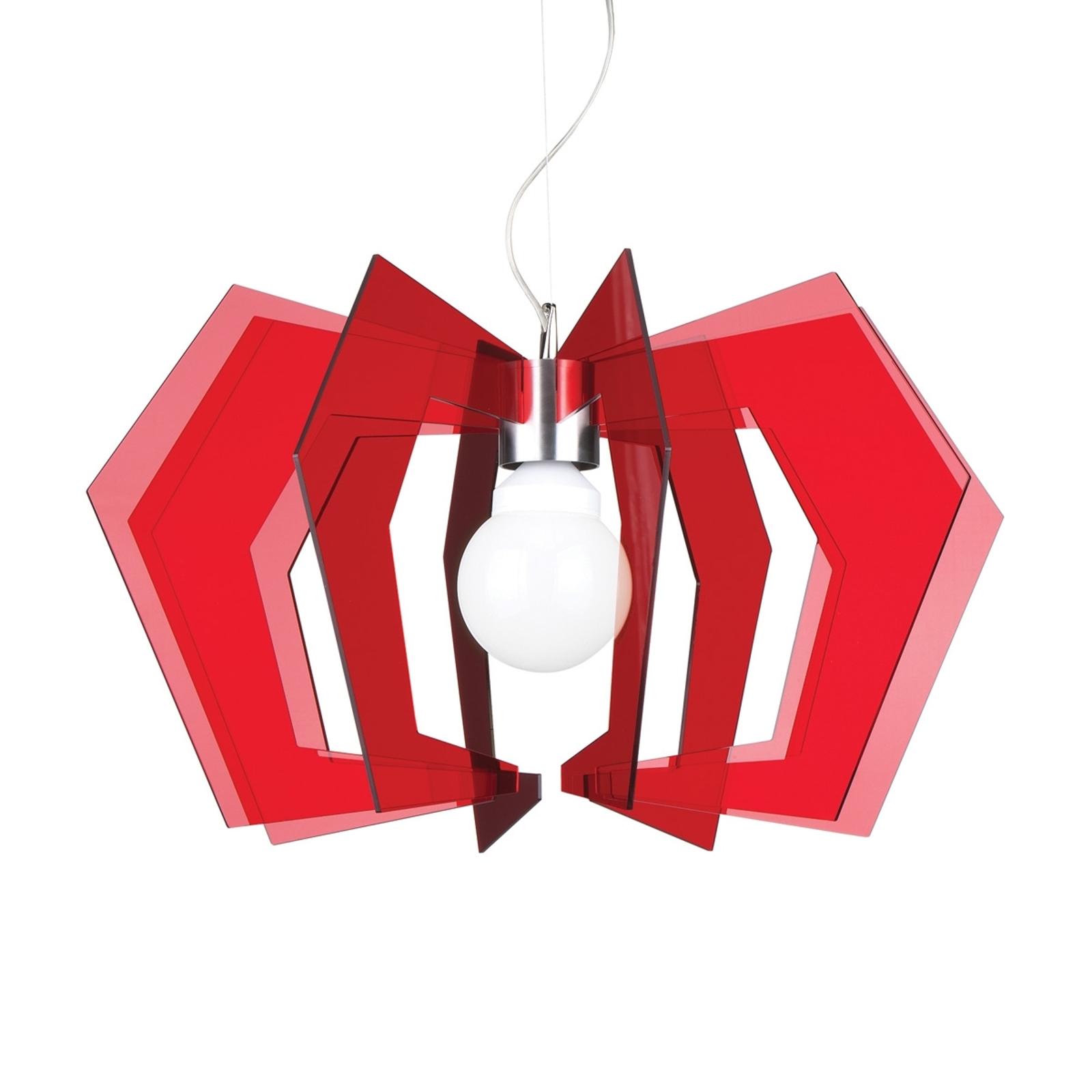 Rød hængelampe Spider