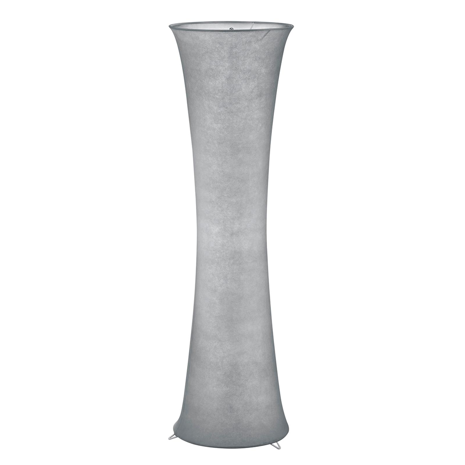 Nastrojowa płócienna lampa stojąca Gravis, szara