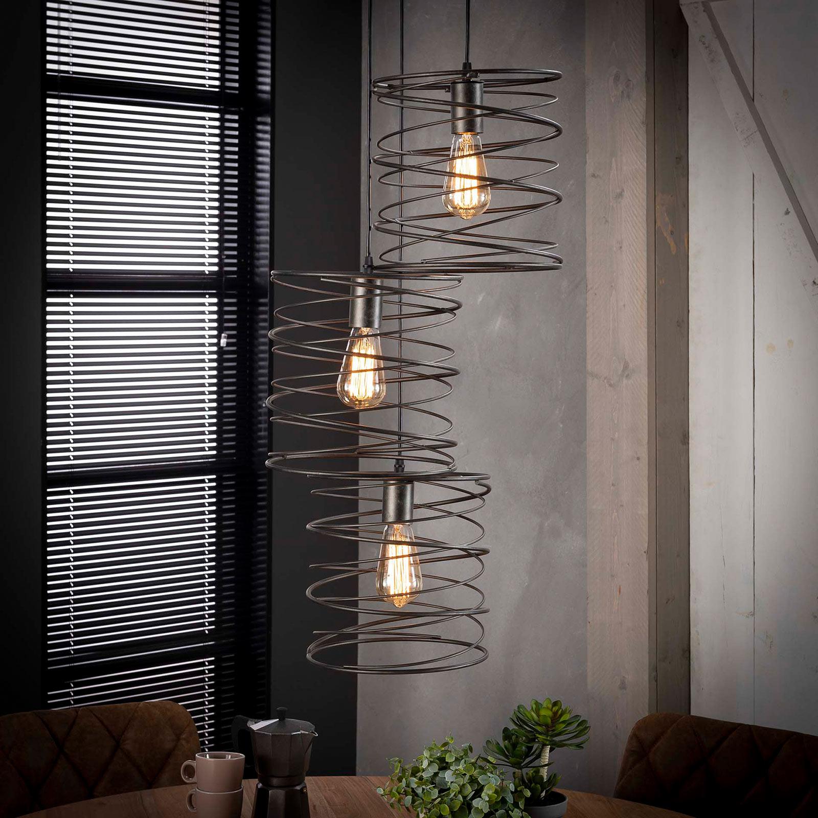 Lampa wisząca Swirlaronda, 3-punktowa