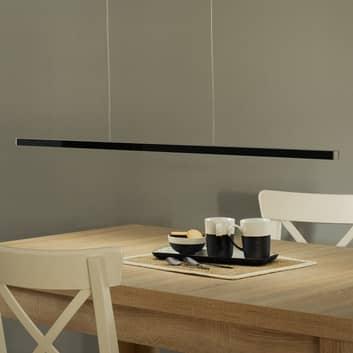 Závěsné LED světlo Orix, ovladač, černá