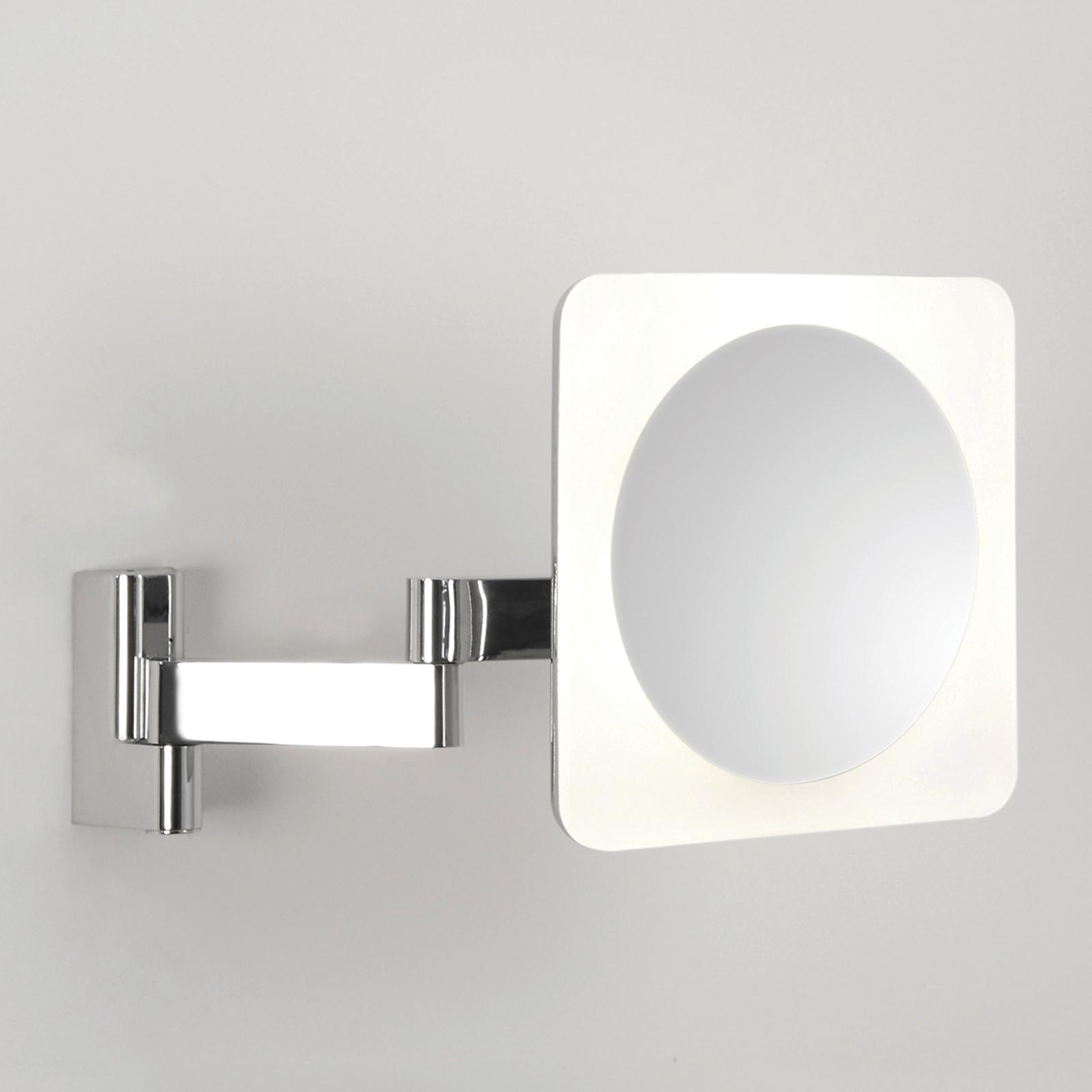 Specchio LED Niimi Square con ingrandimento 5x