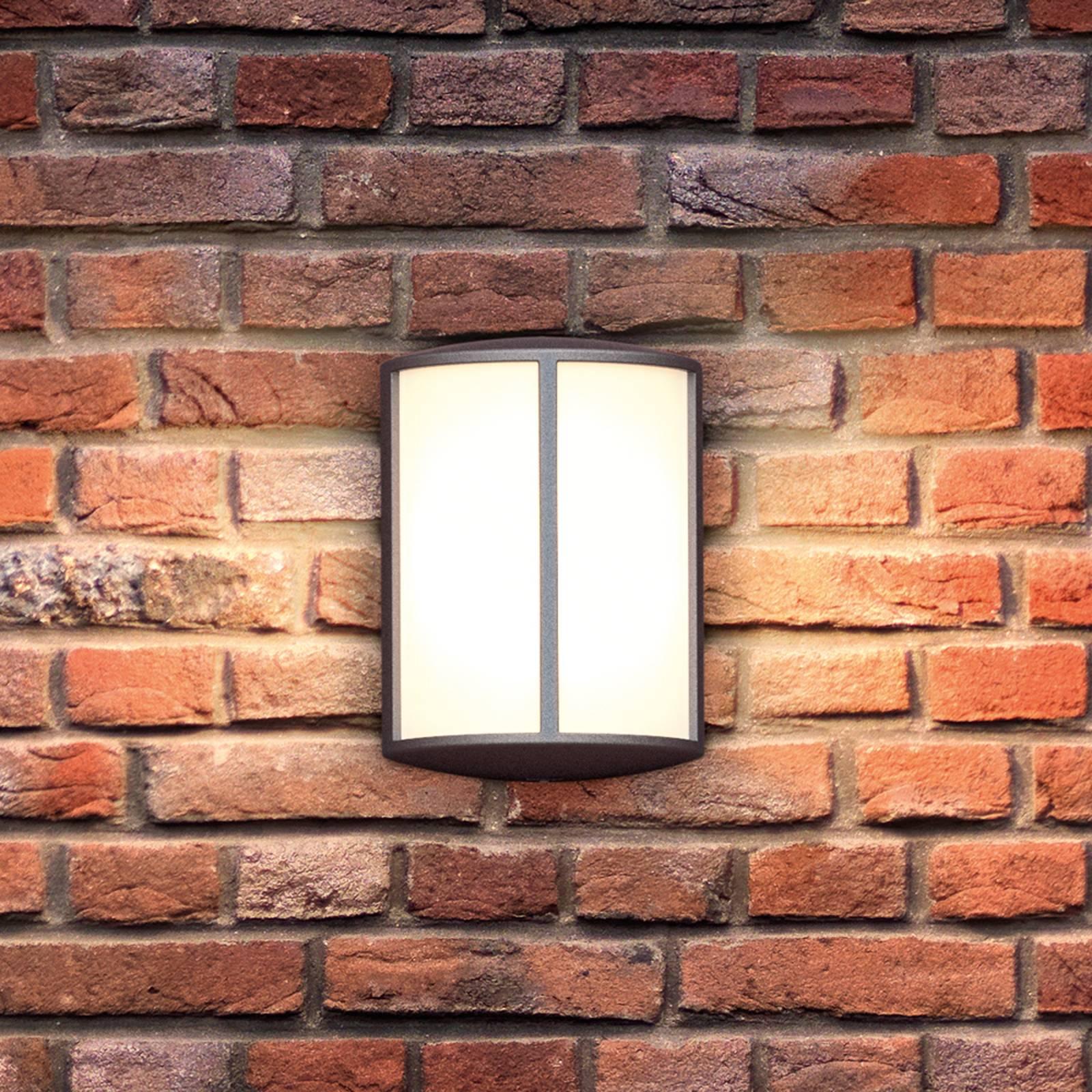 Stemmingsvolle LED outdoor wandlamp Stock