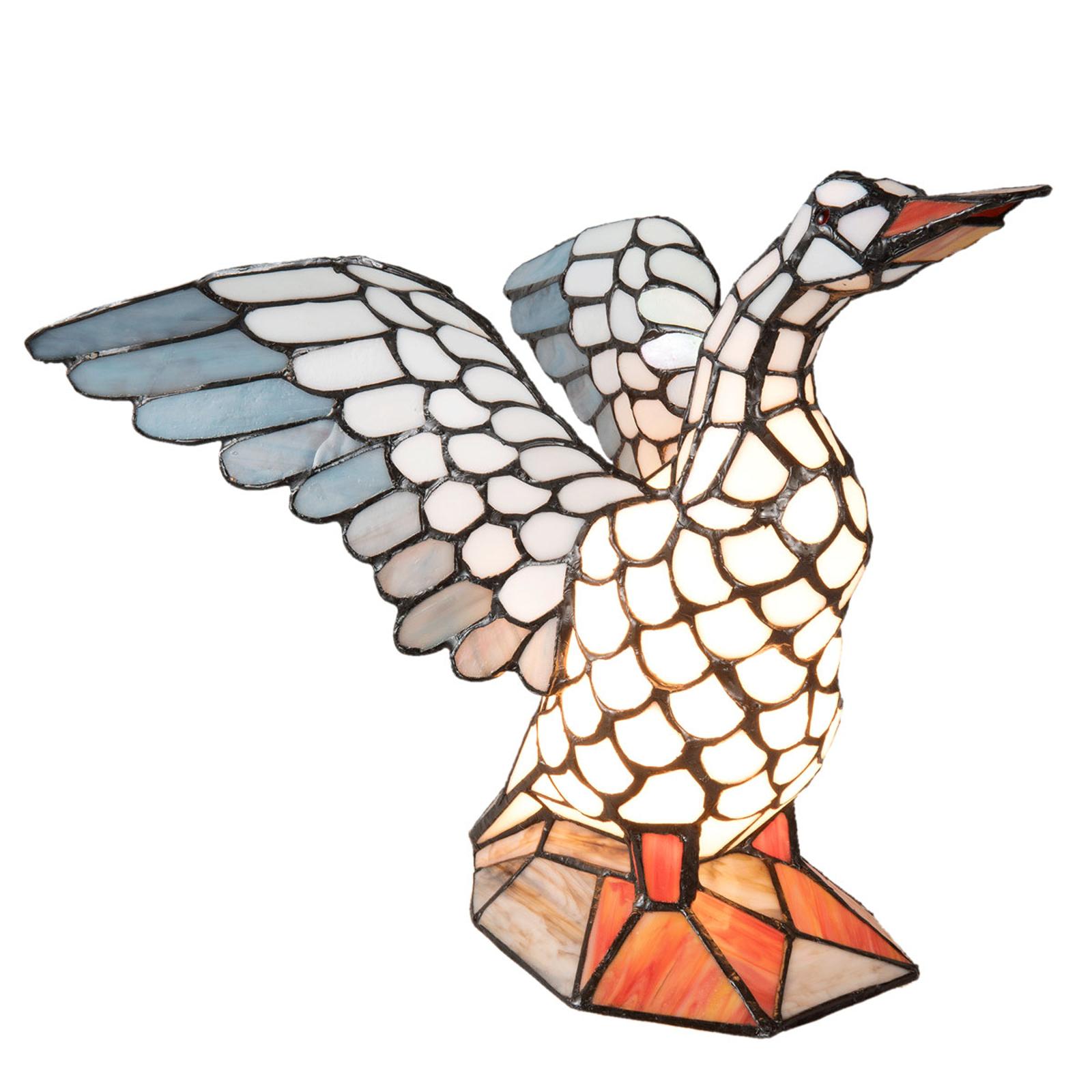Lampe à poser 5928 en forme d'oie, style Tiffany