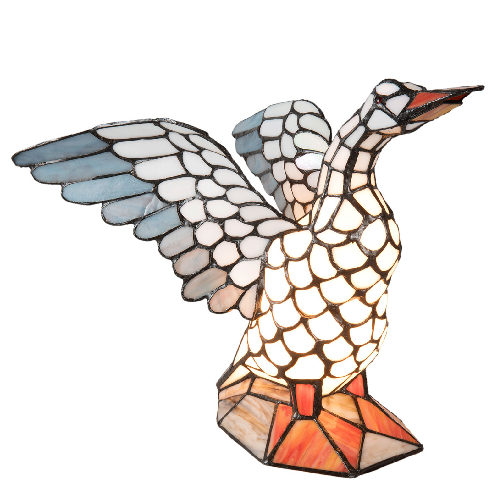 Tafellamp 5928 vorm van een gans, Tiffany-stijl