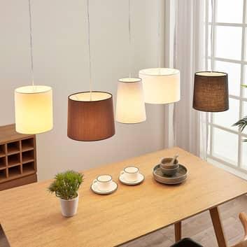 Textilní závěsná lampa Hermina, 5bodová