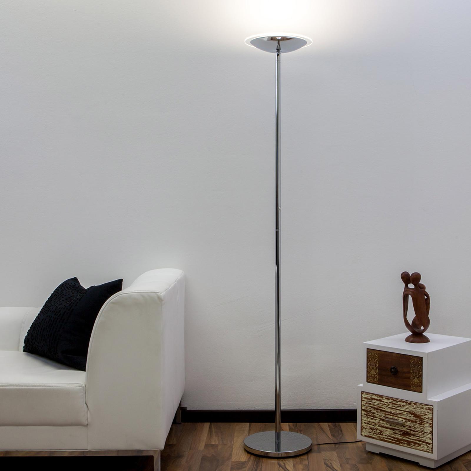 Krominkiiltävä LED-lattiavalaisin Malea