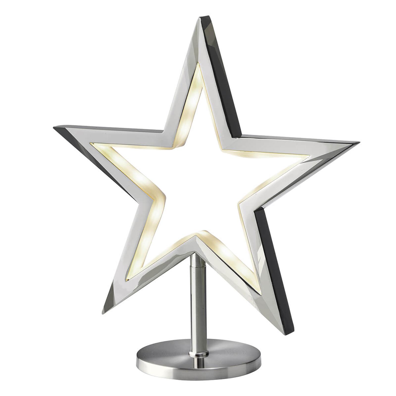 Stojąca gwiazda LED Lucy, chrom