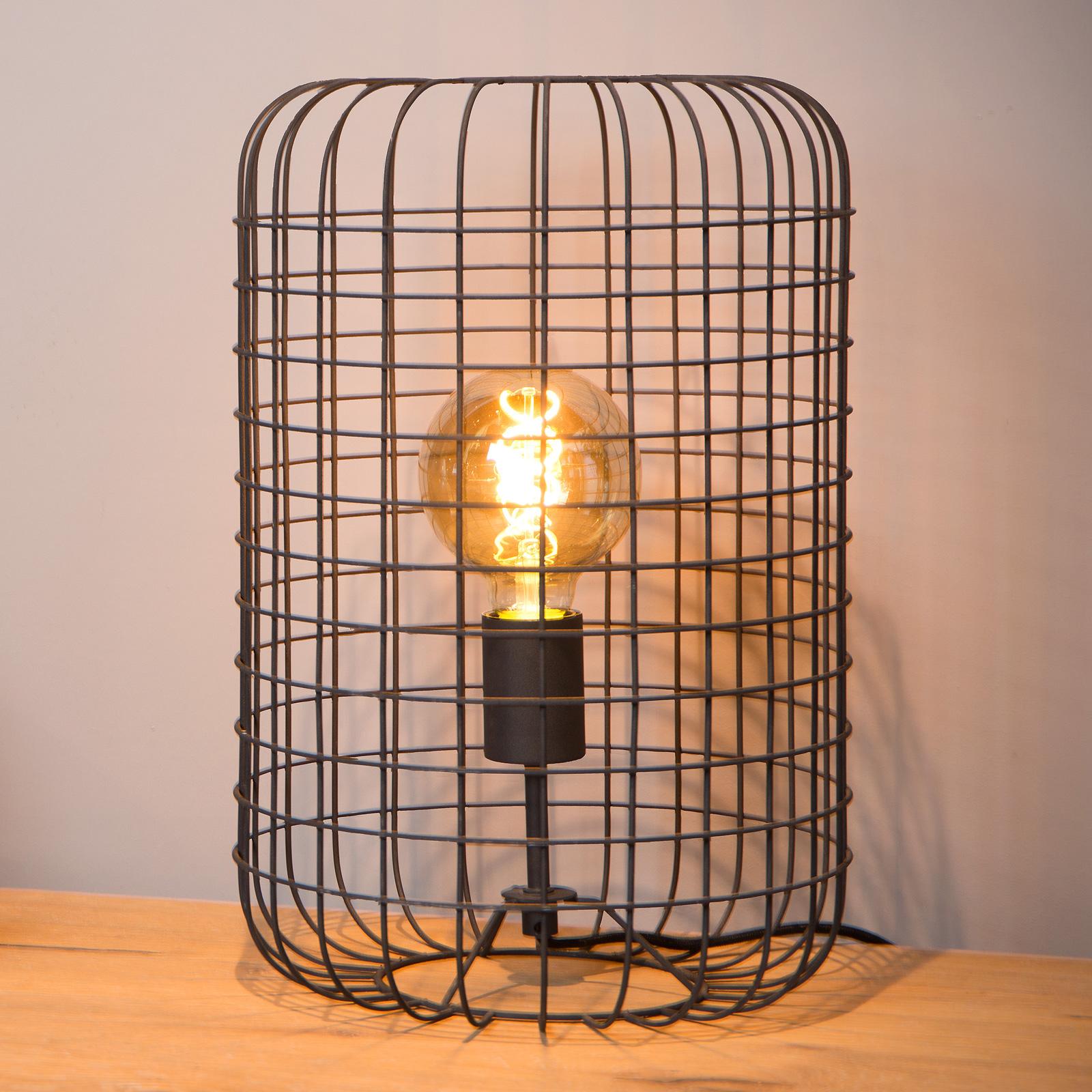 Tafellamp Esmee, zwart Ø 26 cm