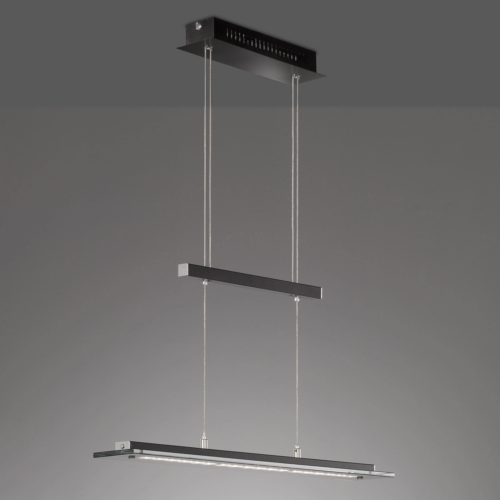 LED hanglamp Tenso TW met dimmer, zwart 88cm